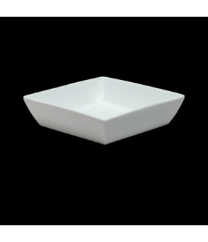 "Salad Bowl, 23-1/2 oz., 6-3/4"", square, porcelain, Duo, Rene Ozorio (USA stock i"