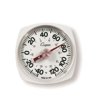 "Wall/Storage Thermometer, 5"" dia. dial, temperature range -40 to 120°F (-40 to 5"