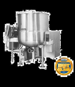 Gas-fired, stationary, horizontal agitator mixer kettle, 100 gallons working cap