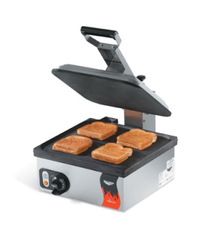 "Cayenne® Sandwich Press, electric, single, 13-5/16"" x 12-3/16"" fixed cast alumin"