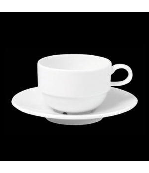 "Coffee Cup, 8 oz., 4-3/4""W x 3-5/8""H, stackable, porcelain, Tria, Simple Plus (m"