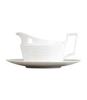 Intaglio Gravy Stand, for 5C10405115, dishwasher safe, bone china, white (priced