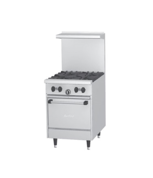 Sunfire® Restaurant Range, gas, 24, (4 30,000 BTU open burners, with cast iron t