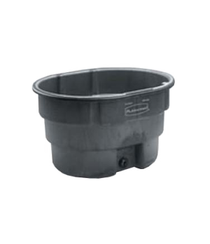 Stock Tank, 70 gallon capacity, structural foam, black
