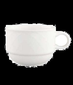 Cup, 7-1/2 oz., stackable, premium porcelain, Bella