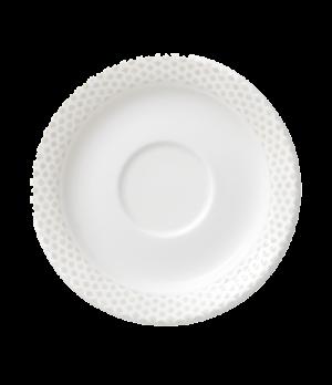 """Saucer, 4-3/4"""" (12cm), salamander/microwave/dishwasher safe, premium porcelain,"""