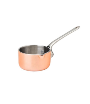 "Mini Saucepan, with lip, 2 oz (60mL), 2.25"" diameter, without lid, stainless ste"