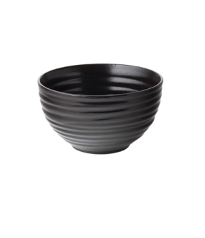 "Rice Bowl, 22 oz (650mL), 5.43"" diameter, round, embossed, vitrified ceramic, eb"