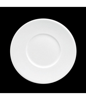 "Plate, 7-1/4"" dia., round, flat, wide rim, porcelain, Tria, Wish (minimum = case"