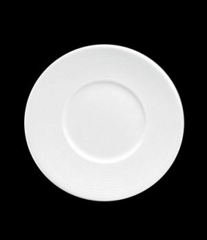 """Plate, 7-1/4"""" dia., round, flat, wide rim, porcelain, Tria, Wish (minimum = case"""