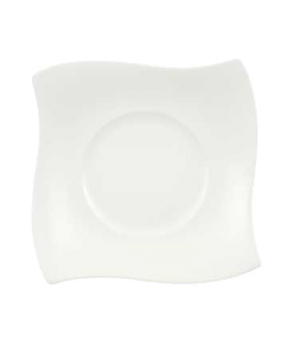 "Plate, 7-1/2"" x 7-1/2"", flat, premium bone porcelain, New Wave Premium (Special"