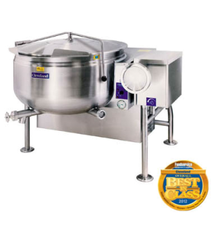 Short Series™ Steam Jacketed Kettle, Gas, Tilting, 40-gallon capacity, full stea