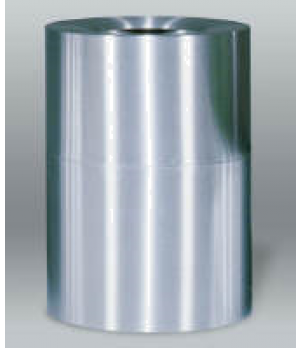 "Designer Line Aluminum Waste Receptacle, 55 gallon, 24"" dia. x 35"" H, open top,"