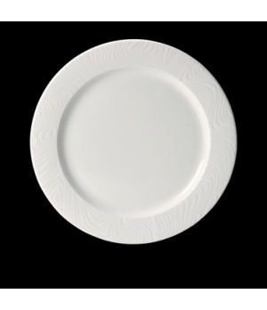"Plate, 8"" dia., round, flat, rimmed, freezer/microwave/dishwasher safe, lifetime"