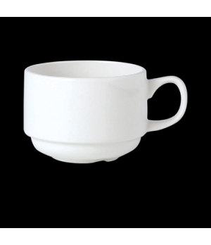 Slimline Cup, 7 oz., stackable, vitrified china, Performance, Simplicity, Black