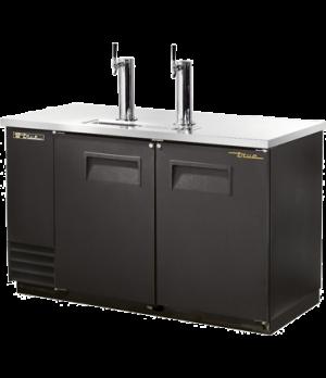 Draft Beer Cooler, (2) keg capacity, stainless steel counter top, black vinyl ex