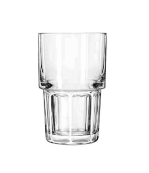 "Hi-Ball Glass, 9 oz., stackable, DuraTuff®, GIBRALTAR®, (H 4-5/8""; T 3""; B 2-1/4"