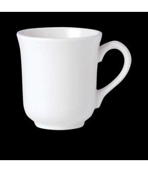 Mug, 8-1/2 oz., vitrified china, Performance, Ivory, Claret (UK stock item) (min