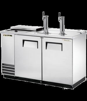 Club Top Draft Beer Cooler, (2) keg capacity, stainless steel counter top & lid