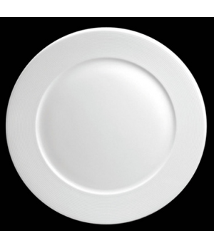 "Plate, 10-5/8"" dia. (7-3/8"" well), round, flat, porcelain, Tria, Wish (minimum ="