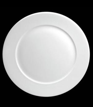 "Plate, 10-5/8"" dia. (7-3/8"" well), round, flat, porcelain, Tria, Wish (minimum ="