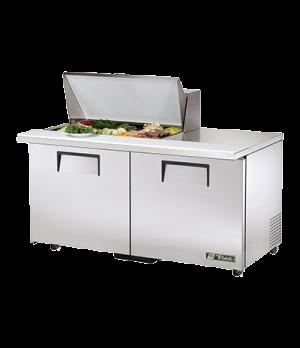 """ADA Compliant Mega Top Sandwich/Salad Unit, (15) 1/6 size (4""""D) poly pans, stain"""