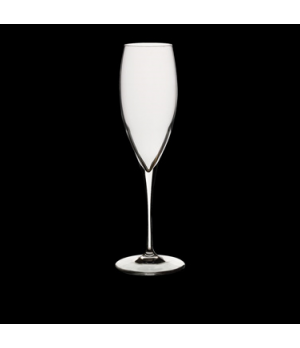 3 Champagne Glass, 8 oz., crystal, non-lead, pulled stem, laser cut, Bormioli, P