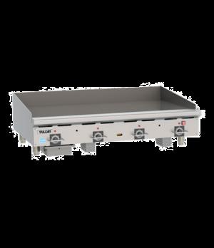 "Heavy Duty Gas Griddle, 110,000 BTU, 48""W x 24""D x 3/4"" thick composite plate wi"