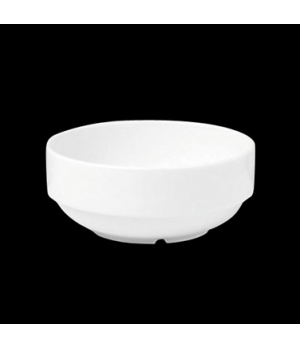 "Bowl, 12 oz., 4-3/4"" dia. x 2""H, round, stackable, porcelain, Tria, Simple Plus"