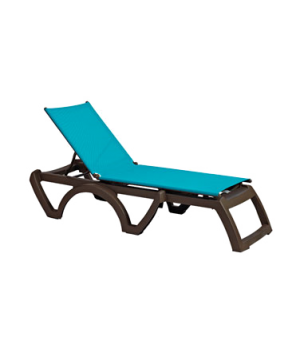 Calypso chaise, stackable, without arms, adjustable sling, bronze mist frame, po