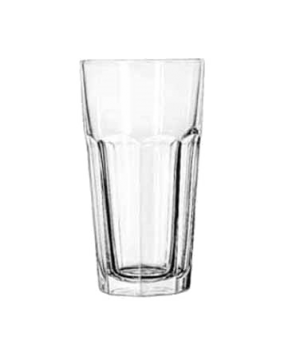 "Iced Tea Glass, 22 oz., DuraTuff®, GIBRALTAR®, (H 7""; T 3-3/4""; B 2-3/4""; D 3-3/"