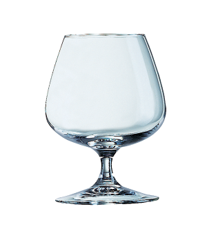 "Brandy Glass, 14 oz., glass, Arcoroc, Degustation, (H 5""; M 3-3/4"")"