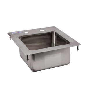 "(39778) Drop-In Sink, one compartment, 9"" wide x 9"" front-to-back x 5"" deep, 3-1"