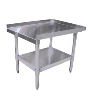 "(24185) Equipment Stand, 12""W x 30""D x 24""H, 18/403 stainless steel top with upt"