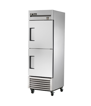 Freezer, Reach-in, one-section, -10°F, (2) stainless steel half doors, stainless