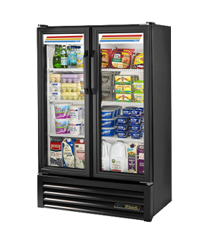 Slim Line Refrigerated Merchandiser, two-section, (4) shelves, laminated vinyl e