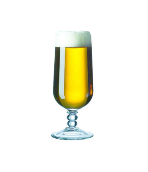 "Pilsner Glass, 12 oz., footed, fully tempered, glass, Arcoroc, Siena (H 7-1/6"";"