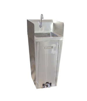 "(27180) Hand Wash Pedestal Sink, 16"" x 13-3/4"" x 5-3/4"" bowl, includes: goosenec"