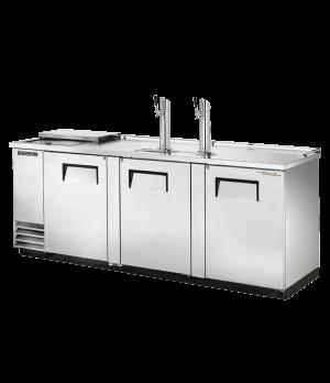 Club Top Draft Beer Cooler, (4) keg capacity, stainless steel counter top & lid,