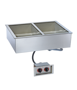 "Halo Heat® Hot Food Well Unit, Drop-In, Electric, (2) 12"" x 20"" full-size pan &"