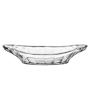 "Banana Split/Relish Dish, 9"", glass, (H 1-7/8""; T 9""; B 5""; D 9"")"