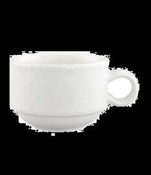 Cup, 3-1/2 oz., stackable, premium porcelain, Bella