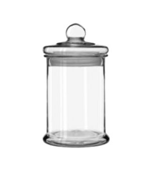 """Bell Storage Jar, 1-1/4 gallon, with knob lid, (H 13-3/8"""", D 7-5/8"""", height does"""