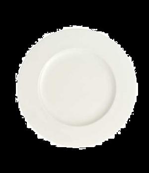 "Plate, 11-3/8"", flat, premium bone porcelain, Stella Hotel"