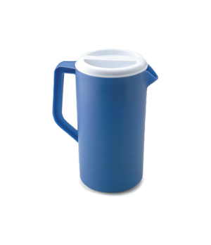 Classic Pitcher, 2-1/4 qt., with white lid, periwinkle