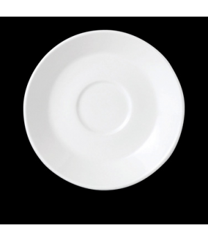 "Slimline Saucer, 6"" dia., round, single well, vitrified china, Performance, Plai"