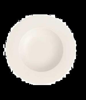 "Rim Soup Plate, 9"", 11-1/4 oz., deep, premium bone porcelain, Stella Hotel"