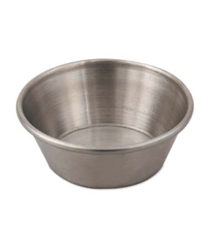 Sauce Cup, 1-1/2 oz. capacity, plain, rolled edge, stainless steel, satin finish