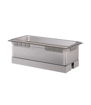 Built-In Heated Well, rectangular, with drain & auto-fill, (4) 1/3 size pan cap.