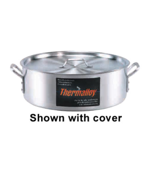 "Thermalloy® Brazier, 24 qt., 17-1/2"" x 5-2/3"", without cover, oversized riveted"
